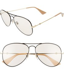 gucci 60mm aviator sunglasses -