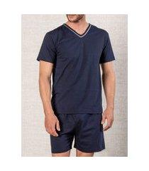 pijama masculino podiun 8037 azul