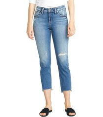 silver jeans co. avery distressed cropped jeans