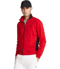 polo ralph lauren men's big & tall cotton interlock track jacket