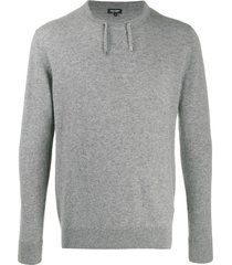 ron dorff cashmere drawstring sweater - grey