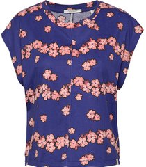 boxy fit tee t-shirts & tops short-sleeved blå scotch & soda