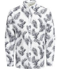 jack & jones overhemd 12167086 white jprblasummer leaf wit