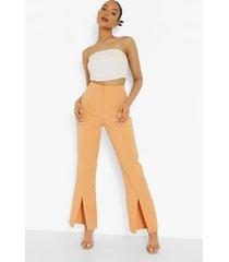 getailleerde slim fit broek met split, orange