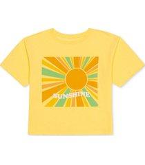 love tribe juniors' sunshine graphic-print t-shirt