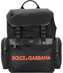 dolce & gabbana structured backpack - black