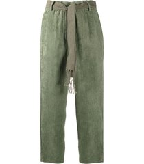 alysi tie-waist trousers - green
