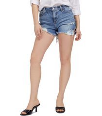 guess claudia distressed jean shorts