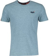 superdry t-shirt - slim fit - blauw