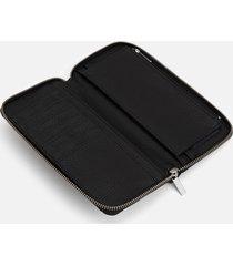 matt & nat women's purity collection central zip around large wallet - black