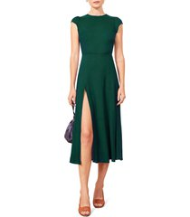 women's reformation gavin dress, size 0 - green (nordstrom exclusive)