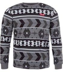 levi's men's printed crewneck fleece sweatshirt