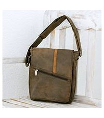 faux leather messenger bag, 'voyage to costa rica' (costa rica)