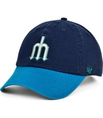 '47 brand seattle mariners on-field replica clean up cap