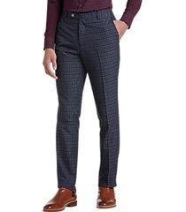 paisley & gray slim fit suit separates dress pants navy gingham