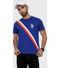 camiseta azul royal-blanco-rojo us polo assn