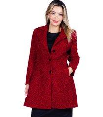abrigo bellisima rojo italiano bellisima