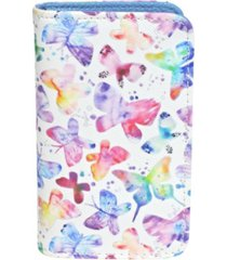 buxton women's soft butterfly rfid pik-me-up snap card case