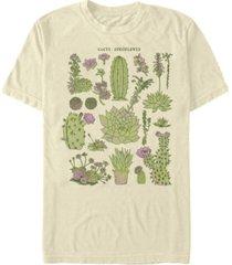 fifth sun men's cacti chart drawing short sleeve crew t-shirt