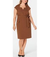kasper plus size belted dress
