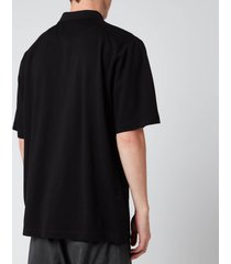 y-3 men's classic pique polo shirt - black - xxl