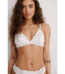 na-kd lingerie amazing trekants-bh - white