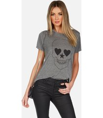 capri peace love skull - l heather grey