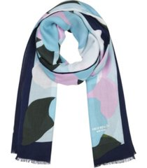 kate spade new york women's colorblock floral oblong scarf
