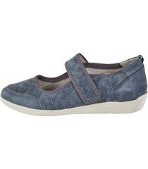 skor med kardborreband julietta grå