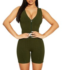 the nw zipped & snatched v-neck romper