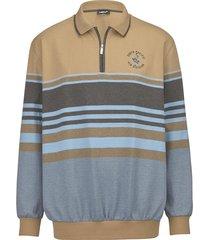 sweatshirt men plus zand::lichtblauw