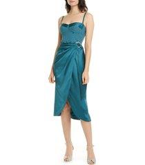 women's jonathan simkhai crepe & satin bustier dress