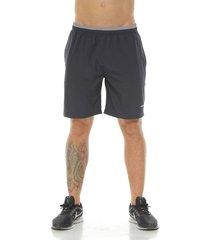 pantaloneta deportiva color gris oscuro para hombre