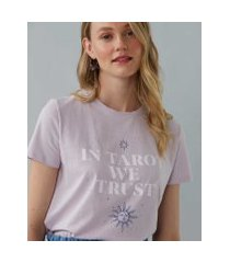 amaro feminino t-shirt in tarot we trust, lilás