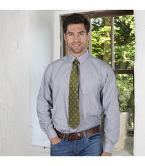 green celtic knot silk tie
