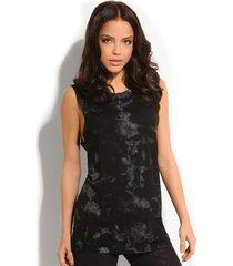 maruja knit top - guess - t-shirts - zwart