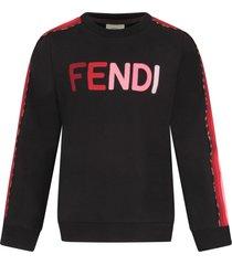 fendi black sweatshirt with colorful logo for girl