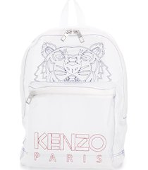 kenzo tiger transparent mesh backpack - white