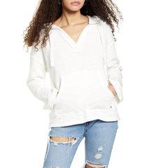 women's roxy sun beats down hoodie, size x-small - white