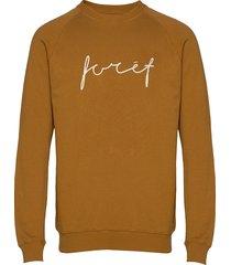 track sweatshirt sweat-shirt tröja brun forét