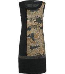 airfield -kl-539 dress - 69 251 86 635 01 - zwart kleed met goud