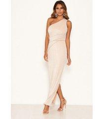 ax paris women's one shoulder sparkle cross maxi dress