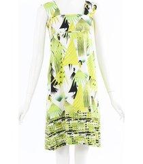 marni leaf printed cotton dress