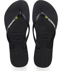 slim brasil logo flip flops