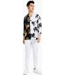 inc international concepts men's explorer contrast floral print shirt, created for macy's