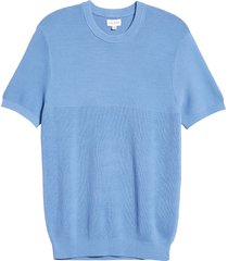 men's club monaco block stitch crewneck men's sweater, size x-small - blue