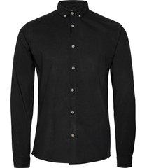 fine corduroy shirt l/s skjorta casual svart lindbergh