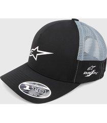 gorra negro-gris alpinestars