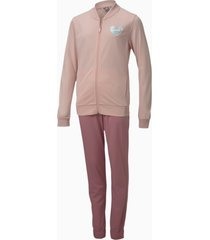 polyester trainingspak, roze, maat 164 | puma