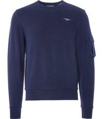 ac36 presented by prada x north sails orewa stretch fleece sweatshirt | blue/navy | 451011-802